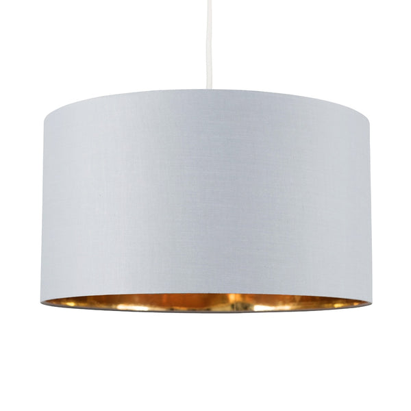 Grey & Gold Inner Drum Shade