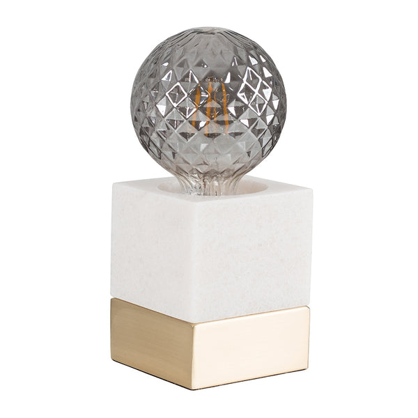 Marble Cube Touch Table Lamp