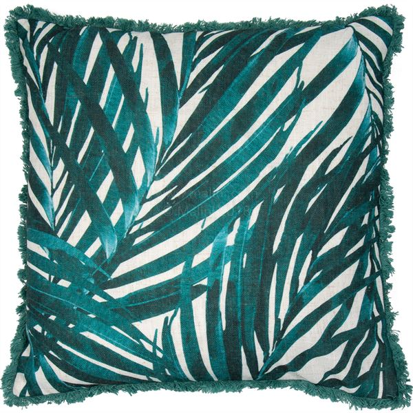 Midnight Forest Fringe Cushion