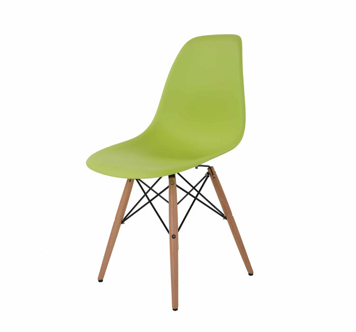 Eames Style Wooden Chair Green