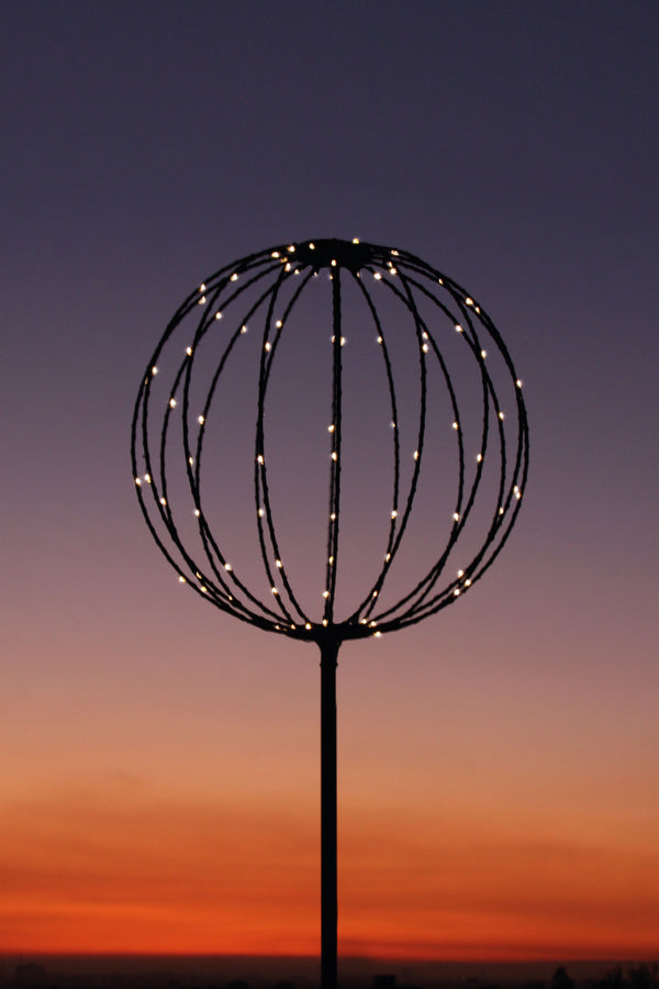 Solar/Mains Sphere Light 50cm Hang up/Stand up