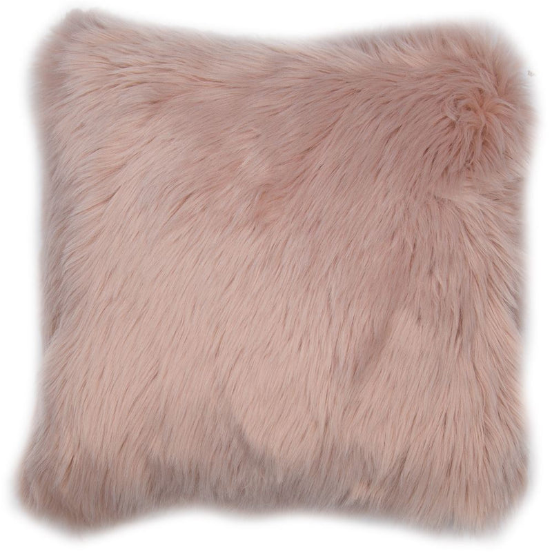 Faux Fur Blush Cushion Filled