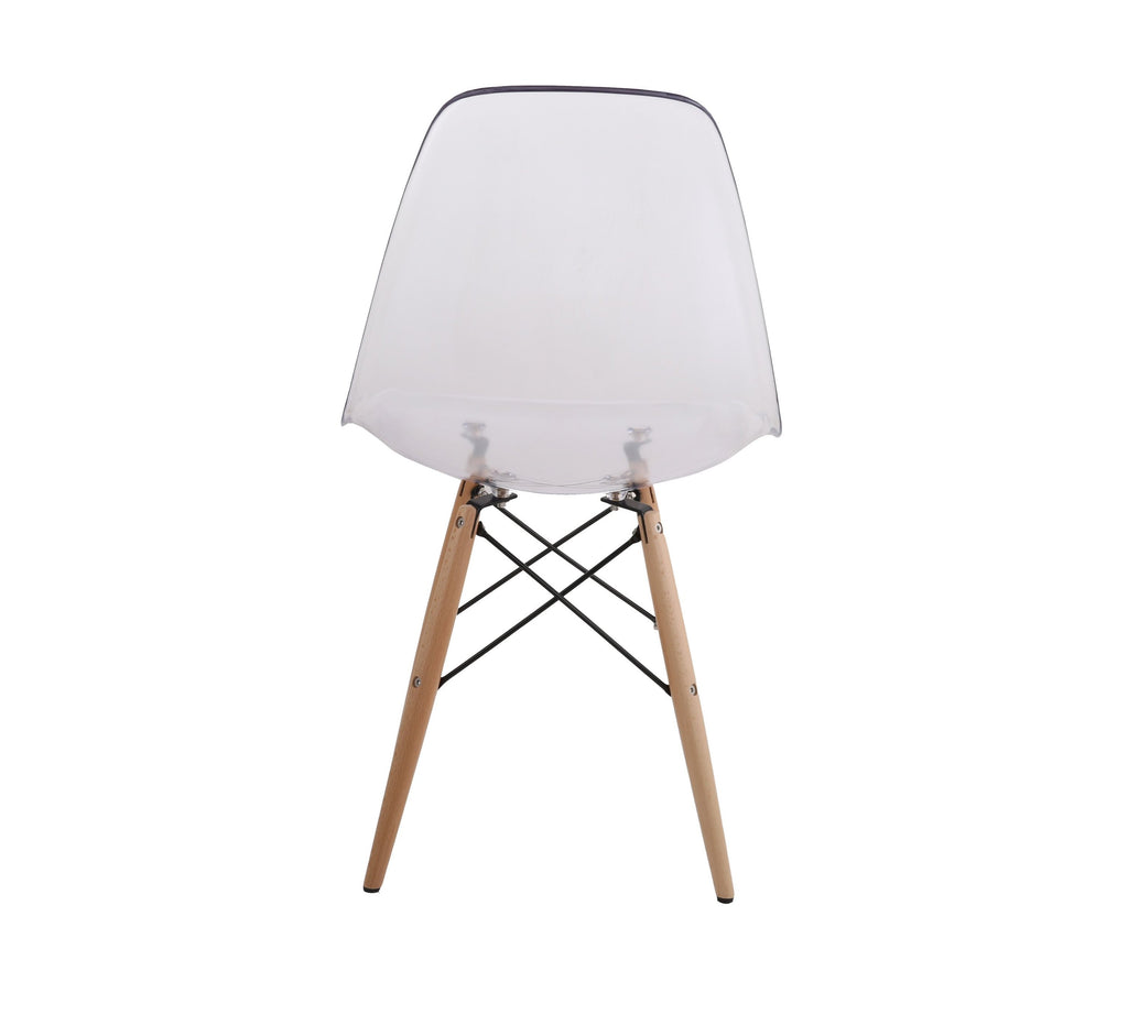 Eames Style Wooden Chair Clear