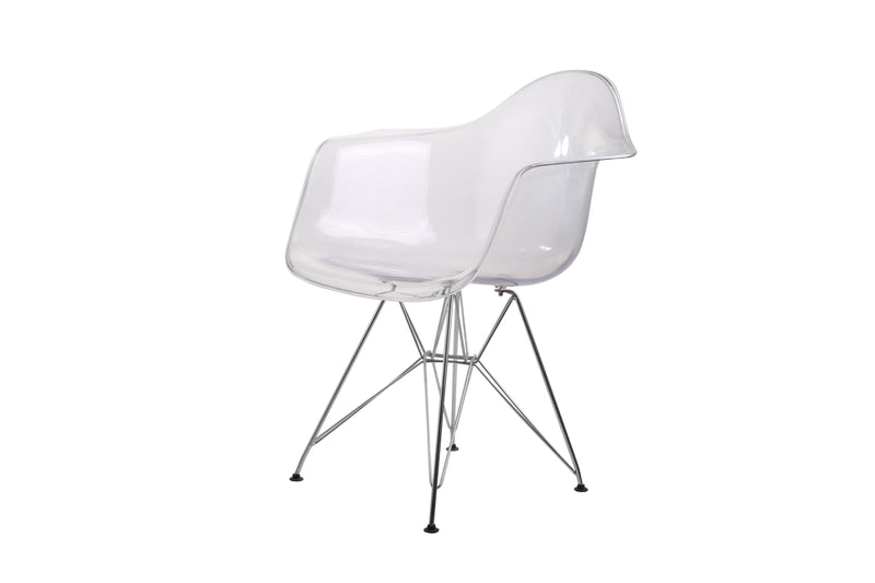 Eiffel Tub Chair Metal Clear