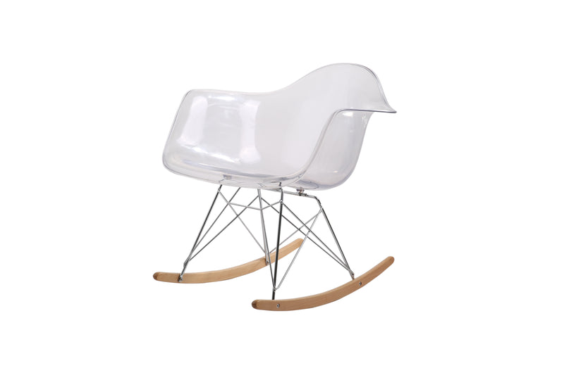 Rocking Eames Style Tub Chair Clear
