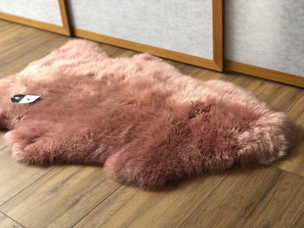 Sheepskin Throw Rug Rosey