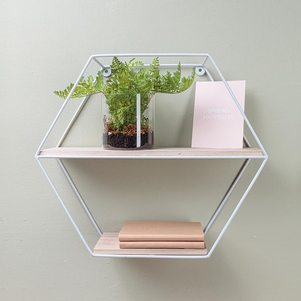 Hexagon Shelf White