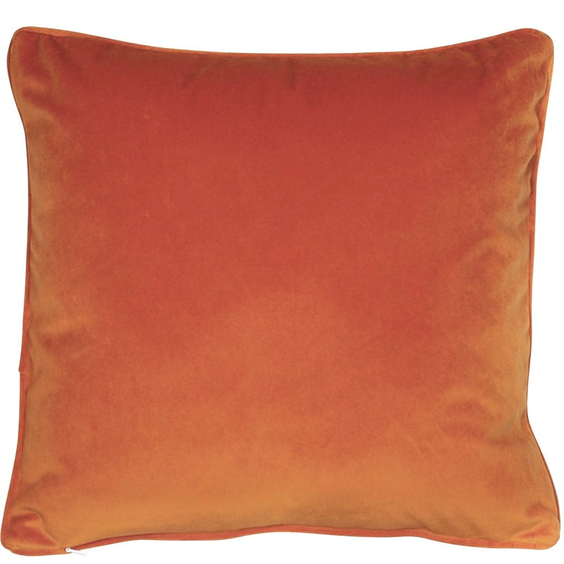 Burnt Orange Velvet Cushion Filled