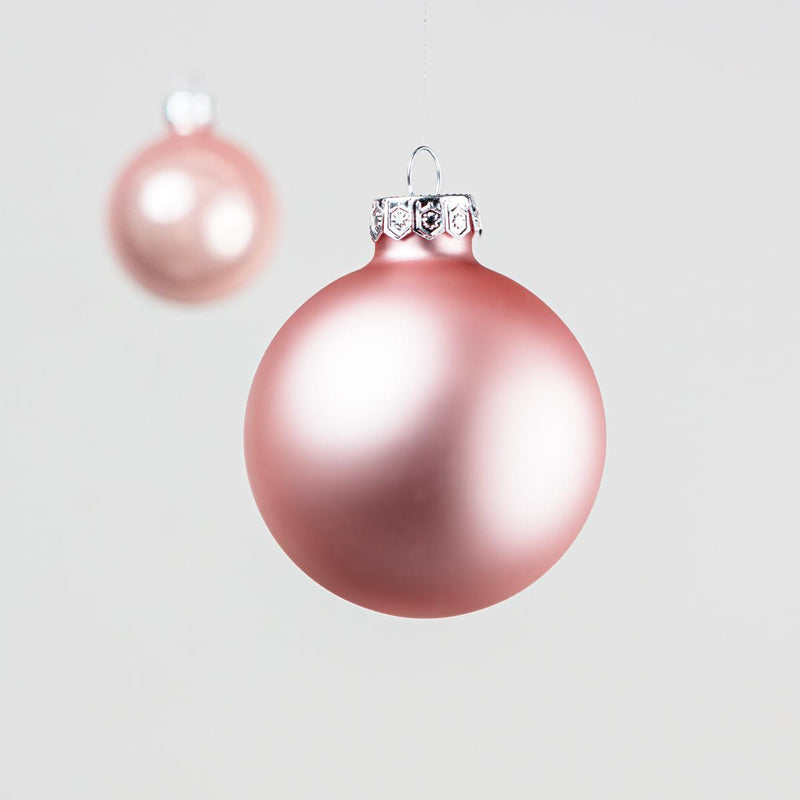 Set of 10 Blush Baubles