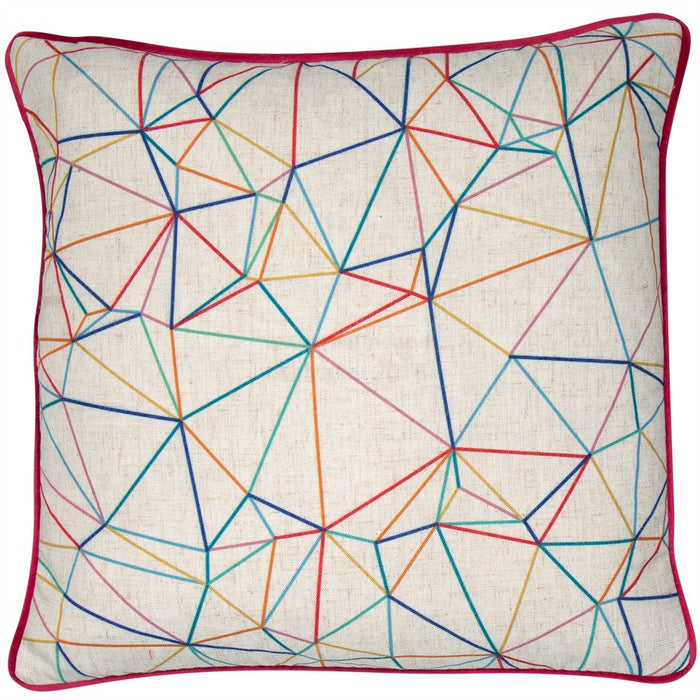 Geo Colours Cushion Filled