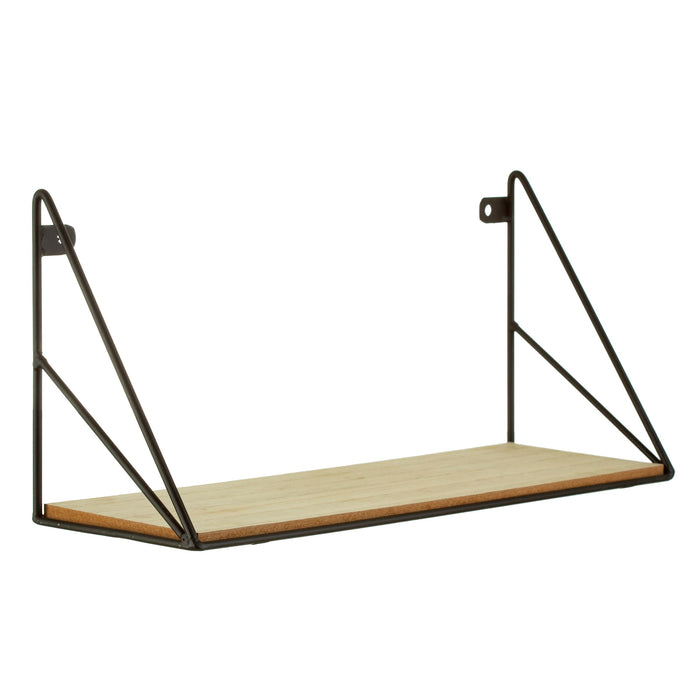Geometric Iron Wall Shelf