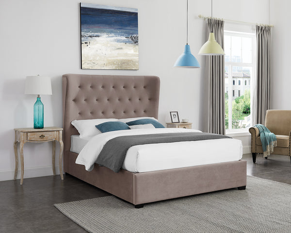 Stucco Ottoman Bed Mink