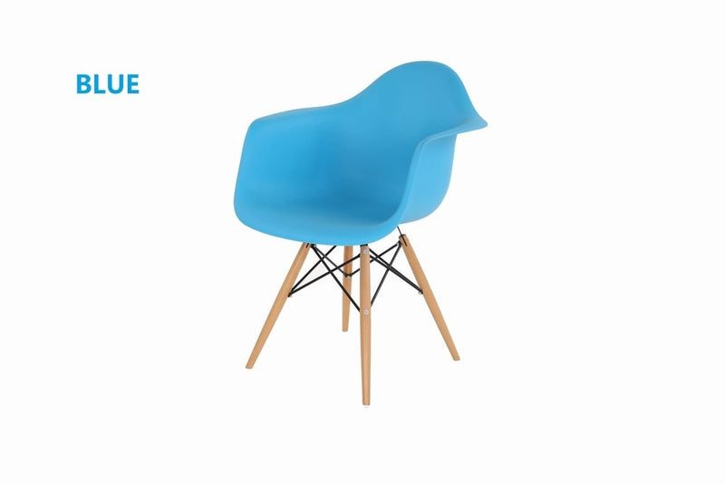 Eiffel Tub Chair Wood Blue