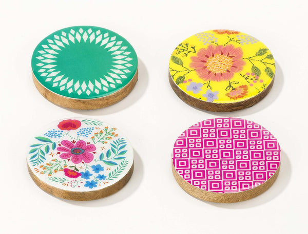 Set of 4 Bohemian Coasters
