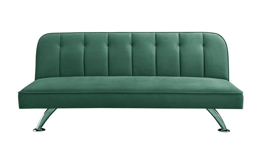 Milburn Velvet Sofa Bed Green