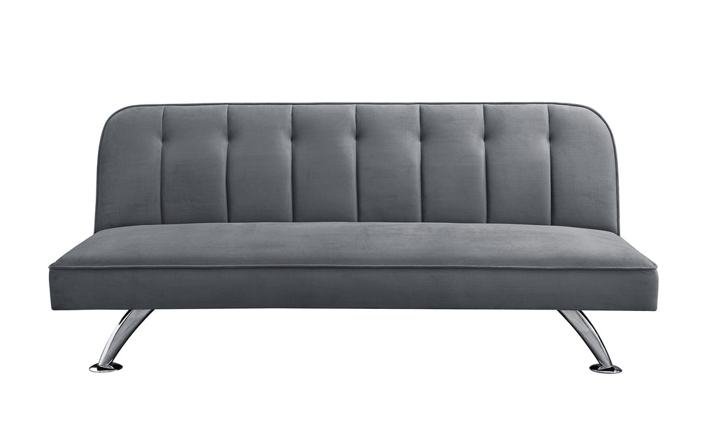 Milburn Velvet Sofa Bed Grey