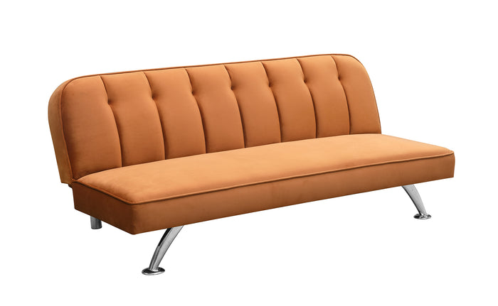 Milburn Velvet Sofa Bed Orange