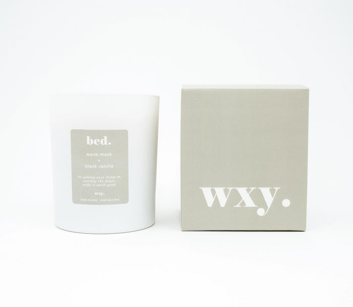 Bed | WXY Scented Candle | Warm Musk & Black Vanilla