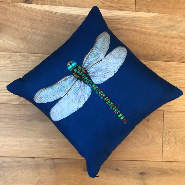Handmade Velvet Dragonfly Cushion