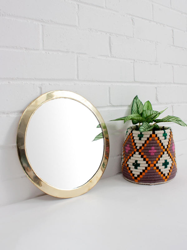 Brass Circle Wall Mirror