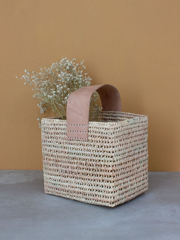 Handmade Palm Leaf Foliage Basket