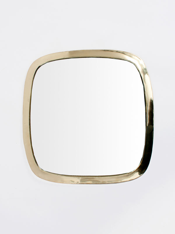 Brass Square Wall Mirror