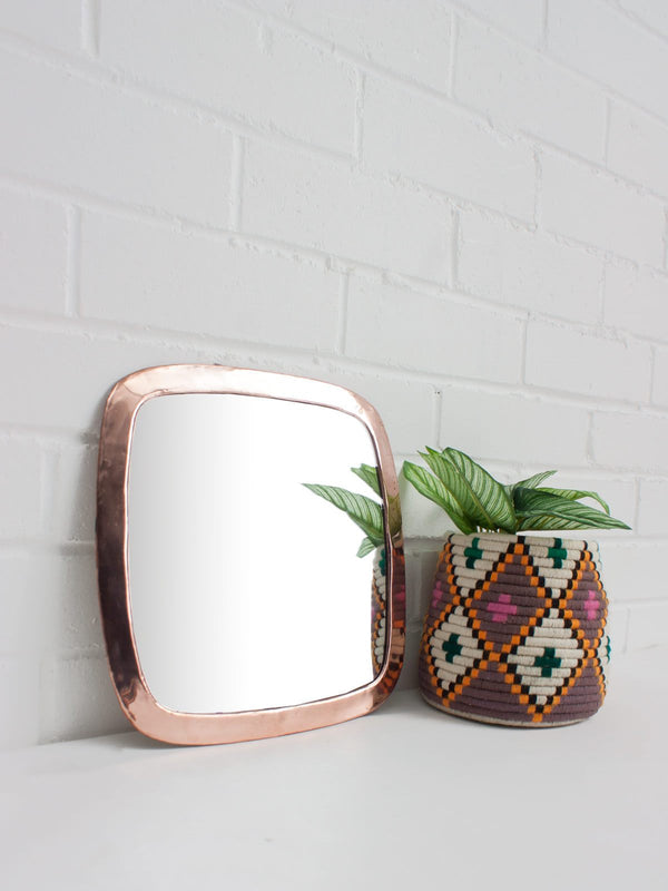 Rose Gold Square Wall Mirror
