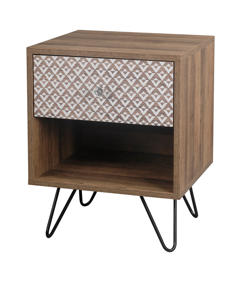 Azrou Hairpin Bedside/Lamp Table