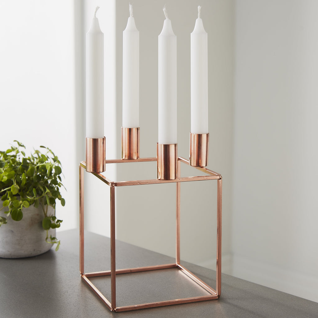 Rose Gold Candle Castle