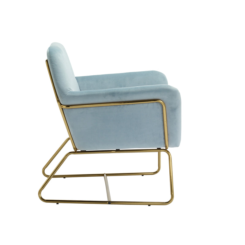 Fika Velvet Ice Blue Chair