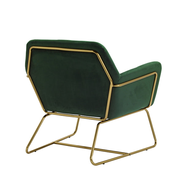 Fika Velvet Evergreen Chair