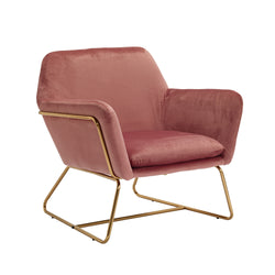 Fika Velvet Blush Chair