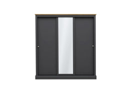Verwood 3 Door Sliding Mirror Wardrobe Charcoal