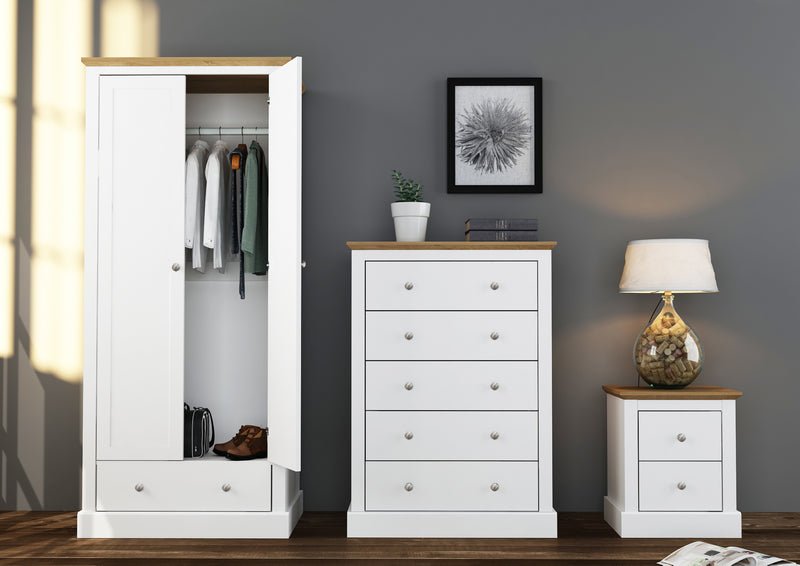 Verwood Bedside Table White