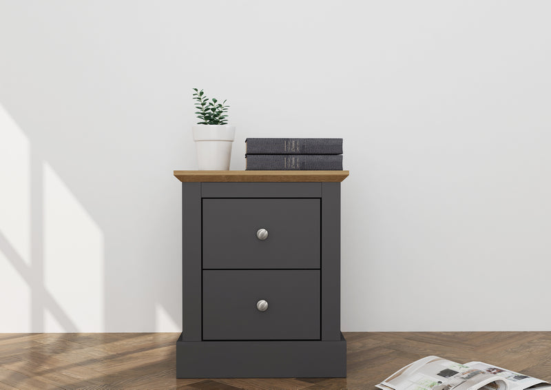 Verwood Bedside Table Charcoal
