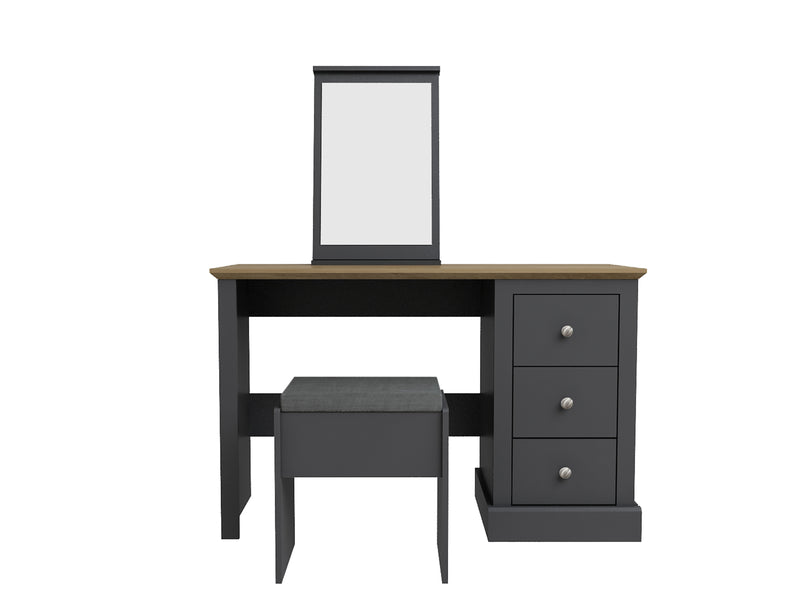 Verwood Dressing Table & Stool Charcoal