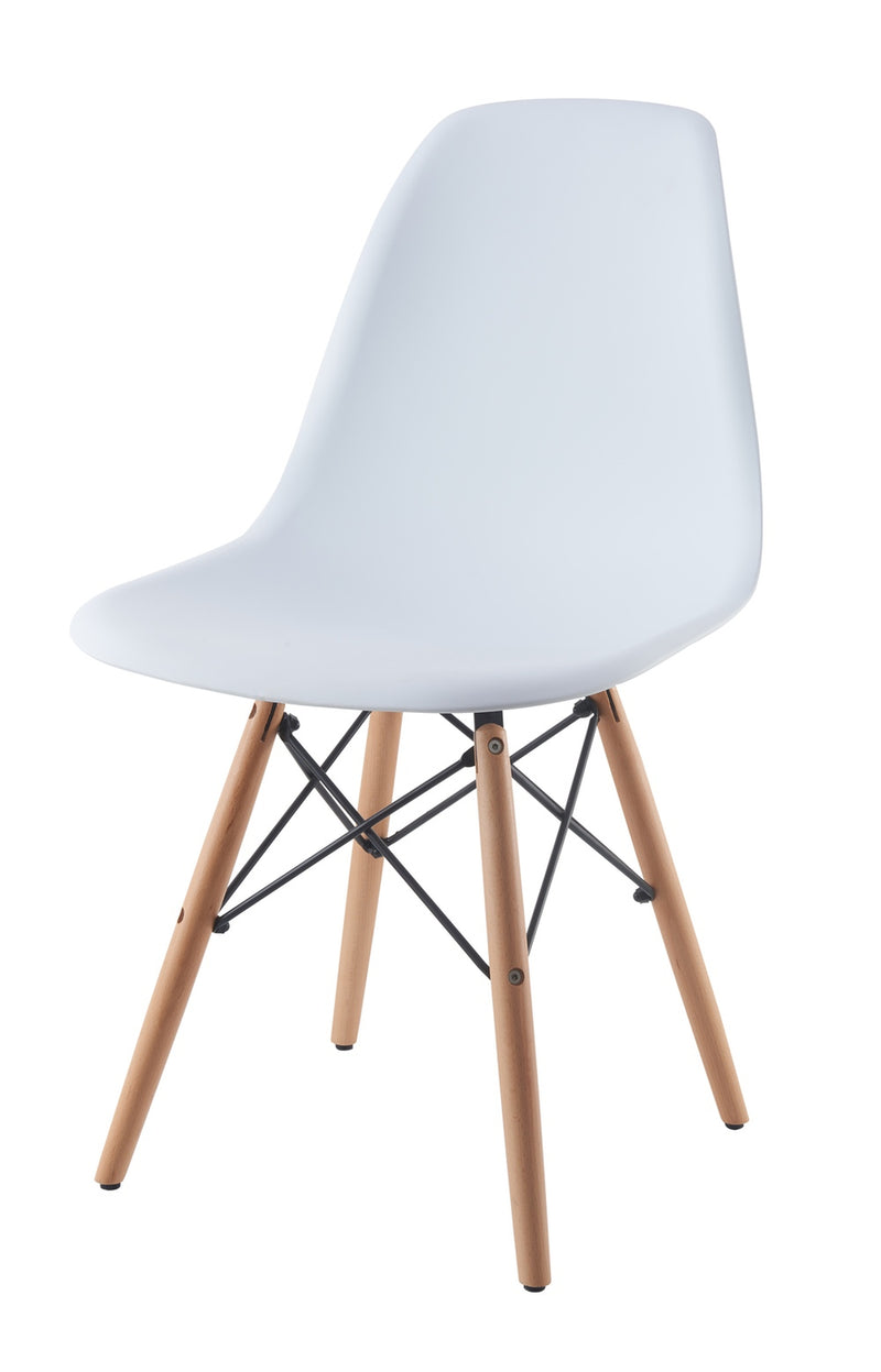 Eames Style Wooden Chair White