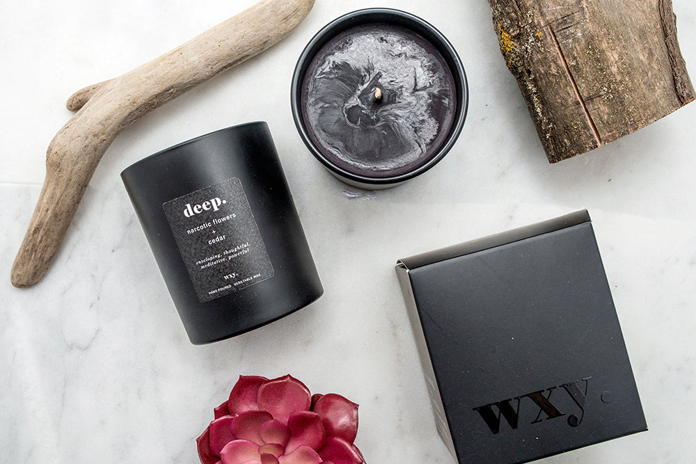 Deep. | WXY Scented Candle | Narcotic Flowers & Cedar