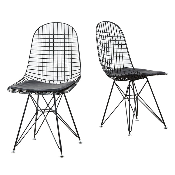 Set of 2 Wire Eames Style Chair