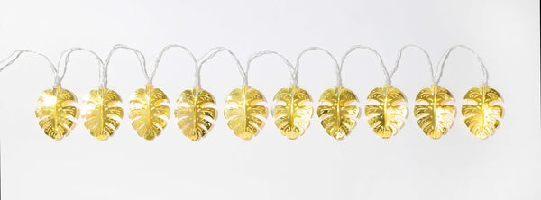 Gold Leaf Metal String Lights