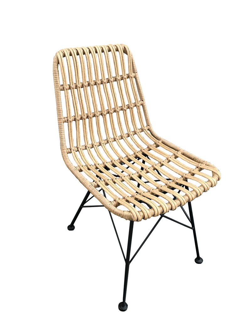 Set of 2 Rattan Chairs