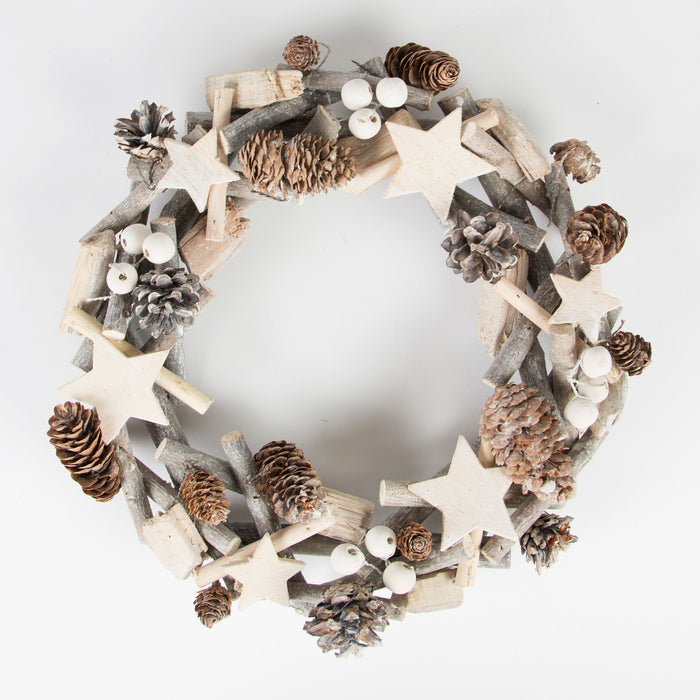 Pine Cone Star Wreath