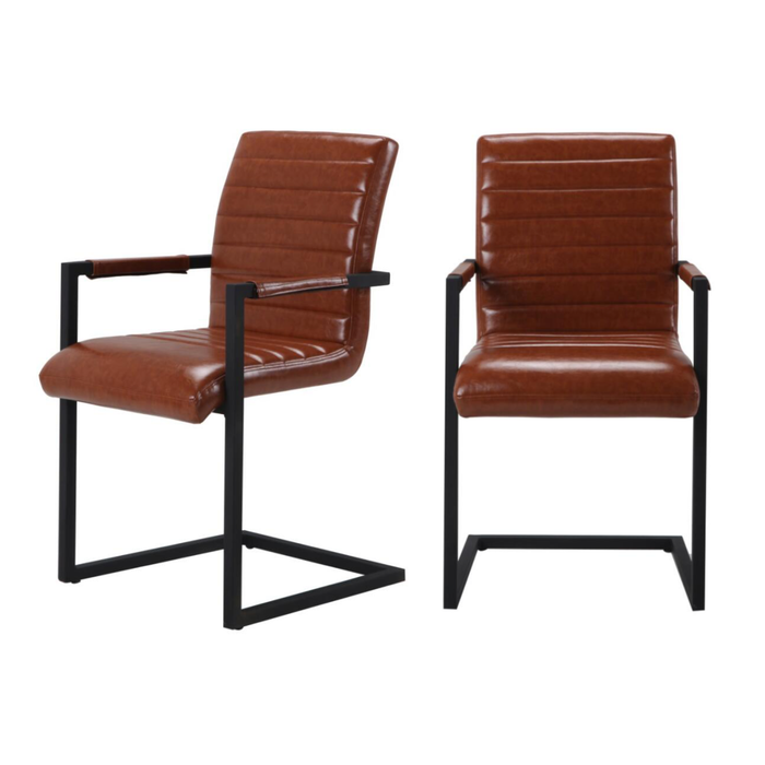 Set of 2 Brunswick Armed Dining Chairs