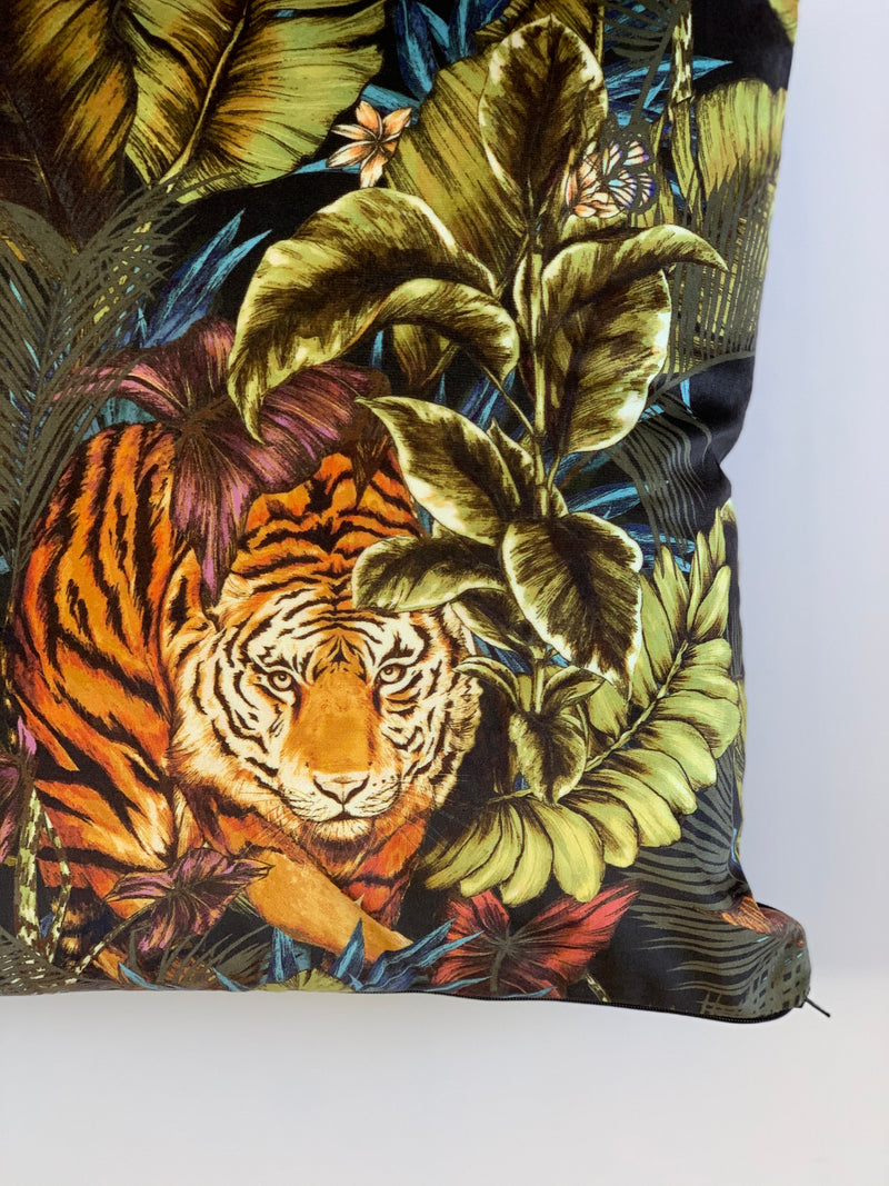 Handmade Velvet Tiger Cushion