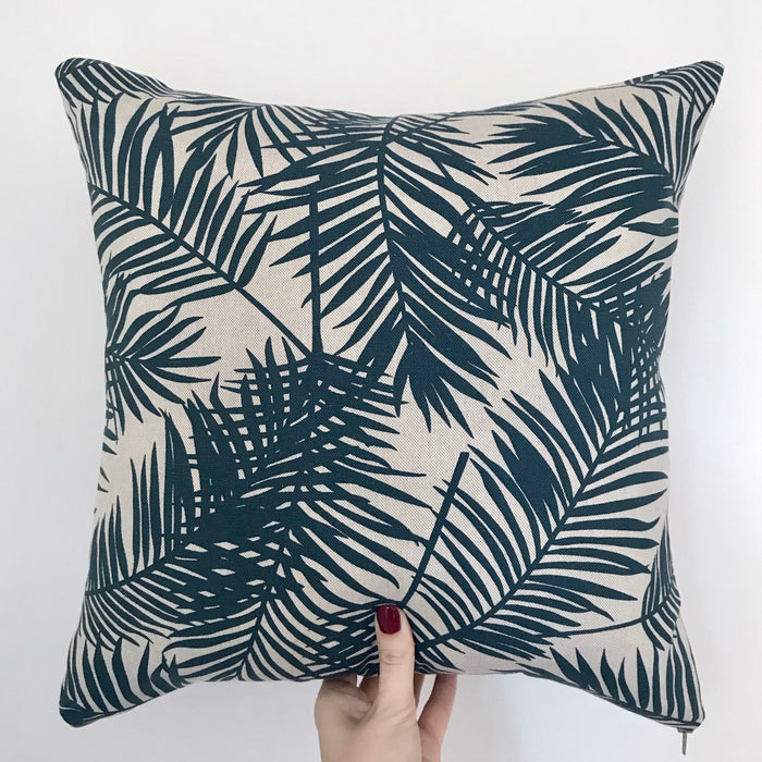 Handmade Tropical Cushion Navy