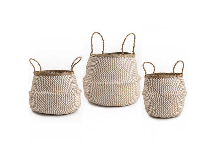 Seagrass Baskets White