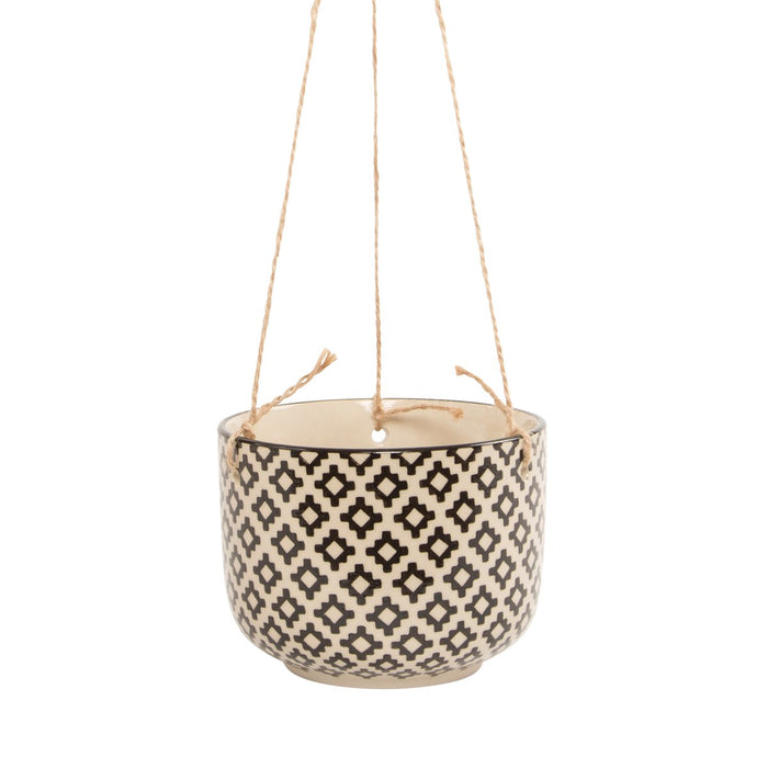 Geo Patch Hanging Planter