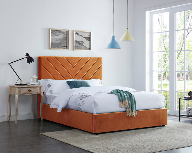 Mimi Velvet Bed Orange