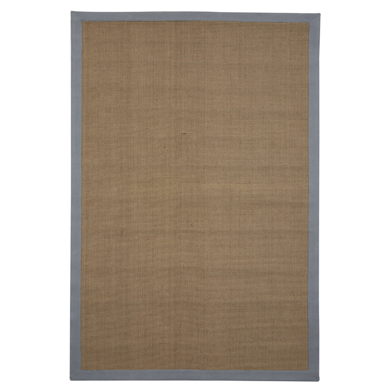 Jute Rug Charcoal Cotton Border