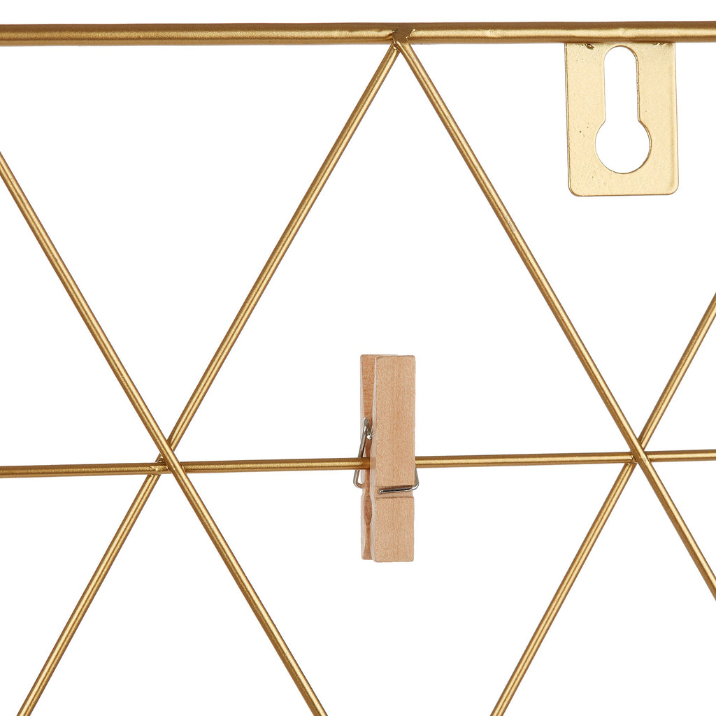 Gold Hexagon Wall Grid